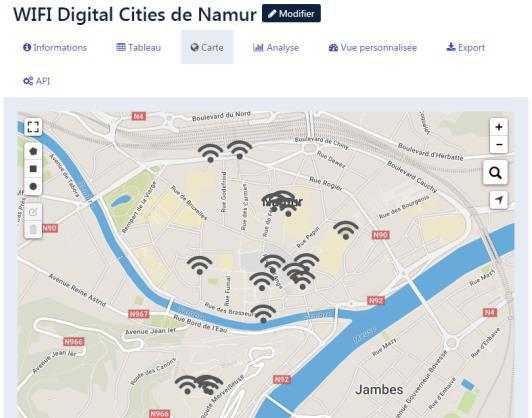 Wifi digital cities Namur