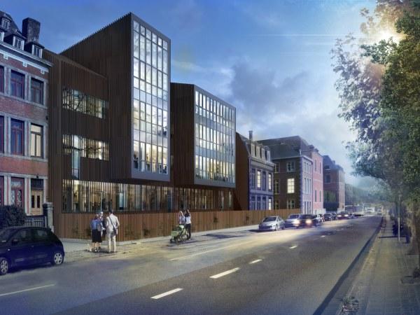 Image de synthèse projet de l'extension du Parlement de Wallonie