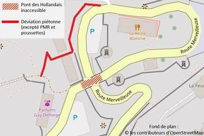 Plan de localisation des travaux sur le Pont des Hollandais