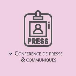 Conférences de presse et communiqués