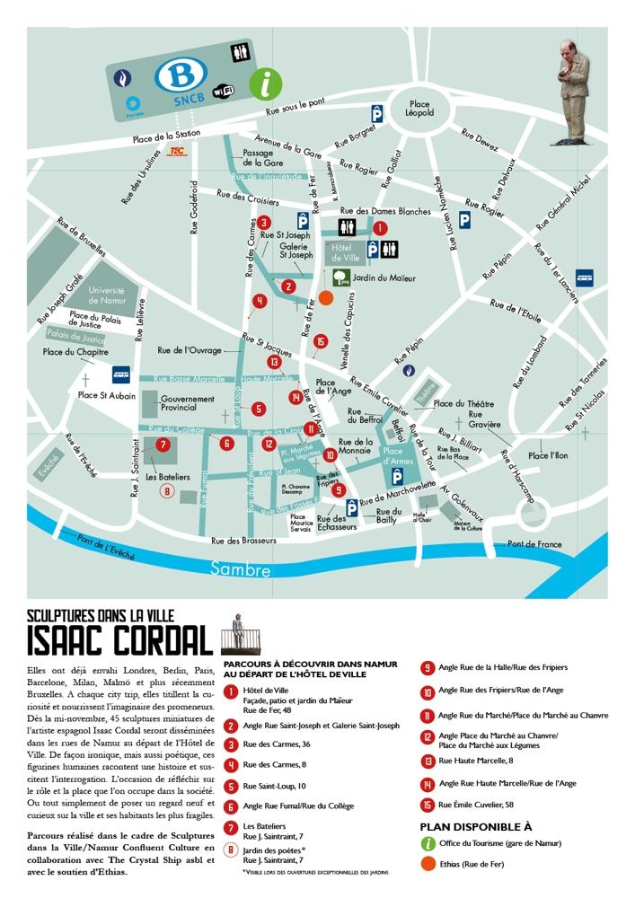 Parcours Isaac Cordal (carte)
