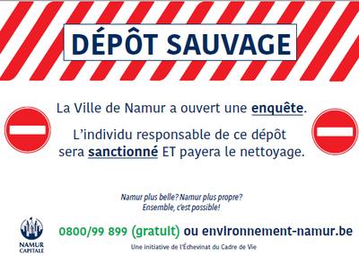 A Namur, on rubalise les dépôts clandestins !