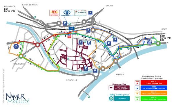 """Plan de mobilité """"Namur en Mai 2019"""""""