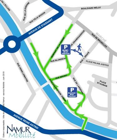 210 places de stationnement supplémentaires ouvertes à l'UNamur les samedis