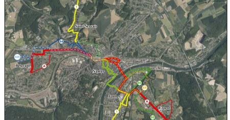 Namur, Belgrade & Jambes/Erpent : nouveau réseau au 1er janvier