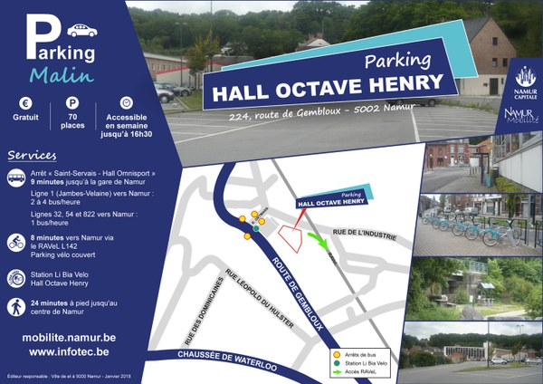 Parking Malin - Hall Octave Henry