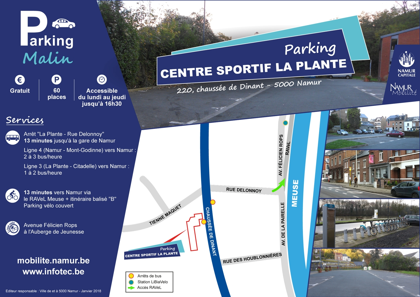 Parking Malin - Centre sportif La Plante