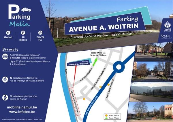 Parking Malin - avenue A. Woitrin