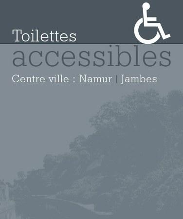Toilettes accessibles dans le centre pour les personnes à mobilité réduite